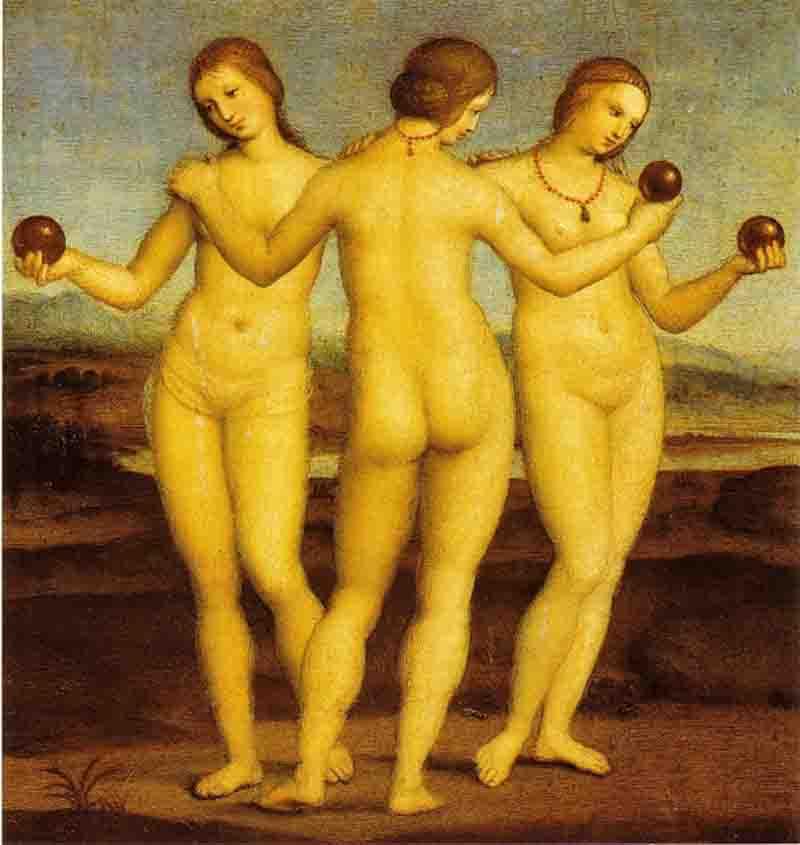 Raffaello-Sanzio-Le-tre-Grazie-1504-1505-Musée-Condé-Chantilly.