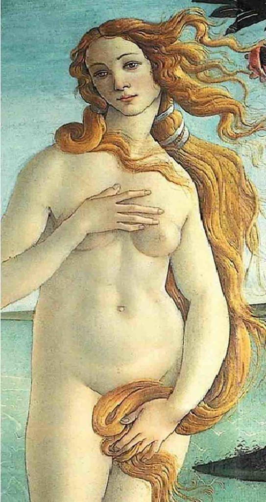 Sandro-Botticelli-Nascita-di-Venere-particolare-1482-1485-Galleria-degli-Uffizi-Firenze