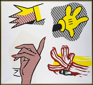 Study-of-Hands-1980-Oil-and-Magna-on-canvas-Private-Collection-©-Estate-of-Roy-Lichtenstein-SIAE-2014