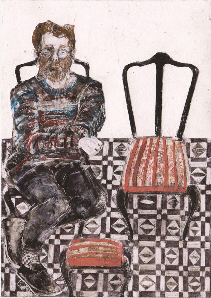 Debora Piccinini-Giuseppe-tecnica mista su carta,15x10