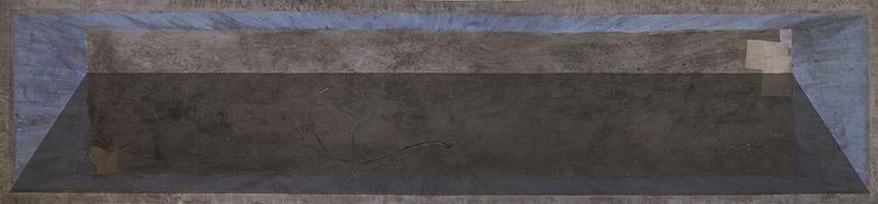 Giulio Bonatti-La piscina dei bambini-olio su tela, 166x600