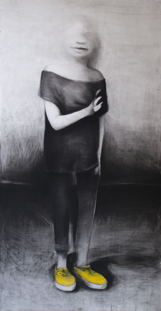 Stefano Galli-Fede-pigmento su carta su tavola, 180x100