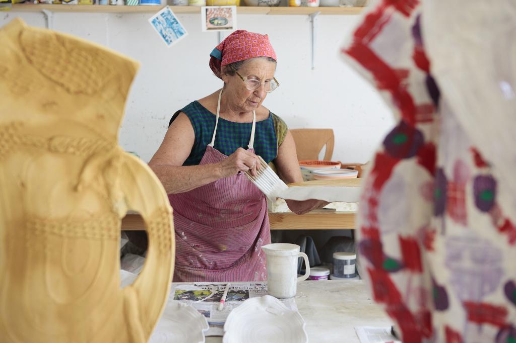 Betty in her studio Italy 2012