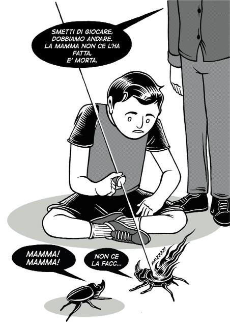Federico Fabbri, Mamma - vignetta per La Morte ti fa belva fanzine, 2015, cm 29x42disegno a china colorato digitalmente