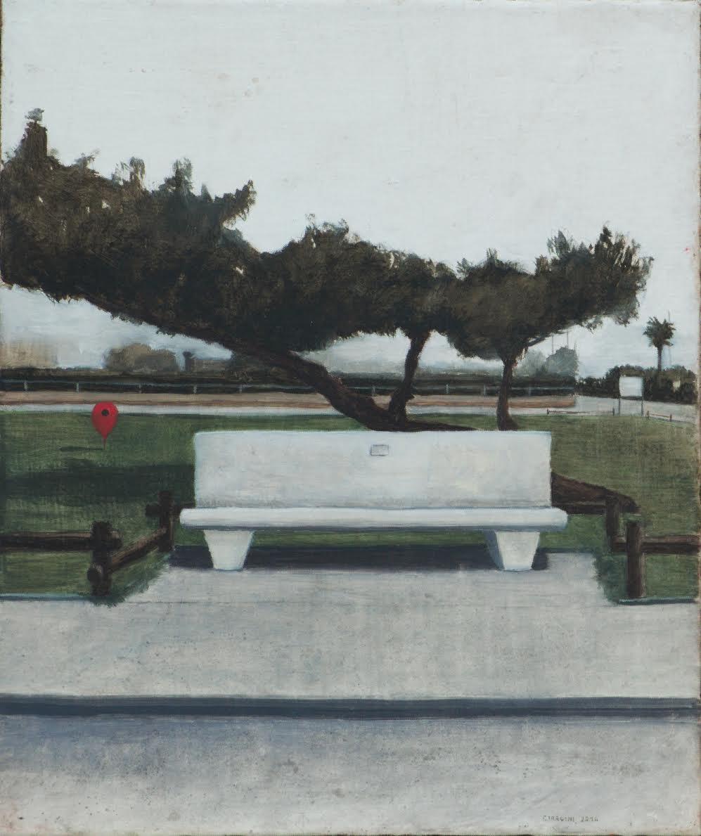 Matteo Ciardini, Senza titolo, 2014. cm 25x30, olio su tela montata su tavola