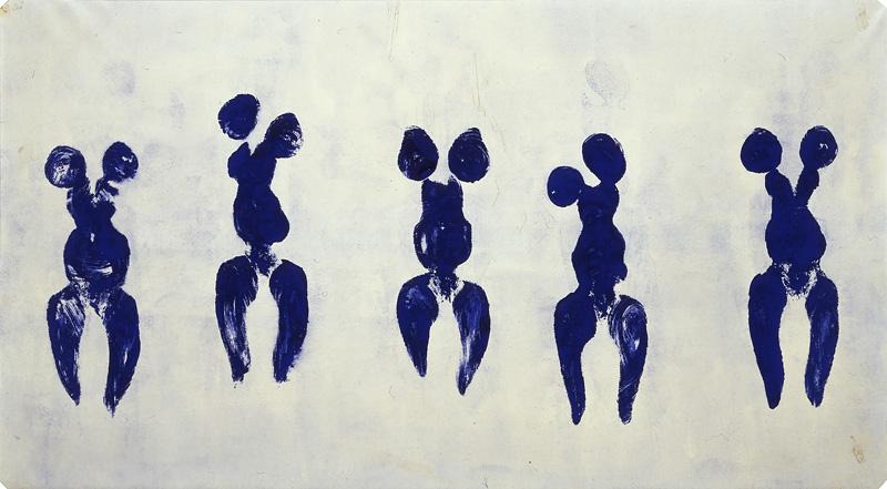 Yves Klein - Anthropométrie de l'époque bleue (ANT 82), 1960, 156,5 x 282,5 cm