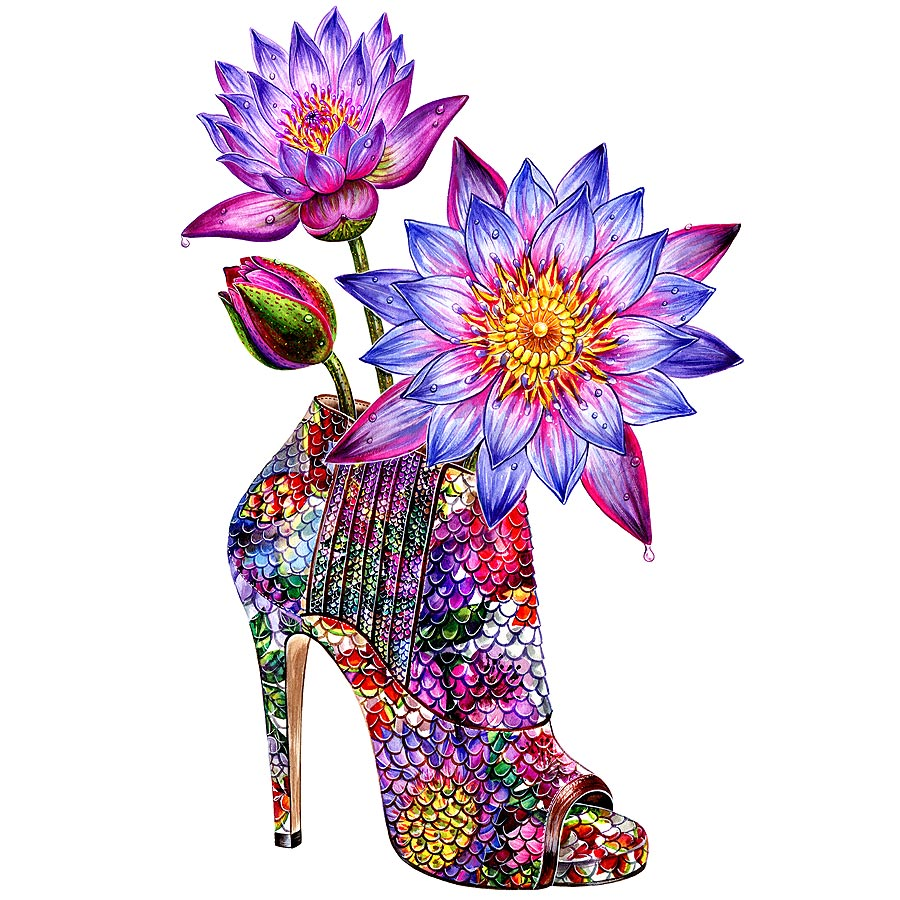 Sunny Gu Jimmy-Choo-floral-ankle-boots