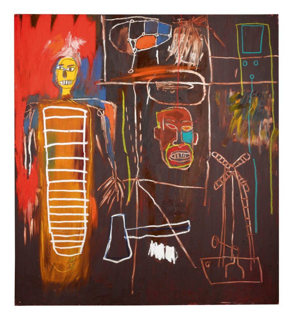 Jean-Michel Basquiat, Air Power, 1984, Acrylic and oilstick on canvas