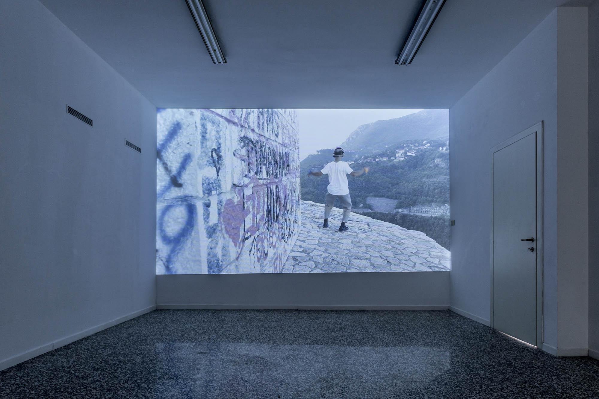 Lucia Cristiani, Passerò domani, 2016, Installation view (Still frame from video), photo Giulia Spreafico, courtesy of the artist and t-space