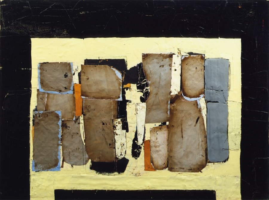 marca-relli-conrad-j-m-10-1985-collage-and-mixed-media-on-canvas-94-5-x-127-cm